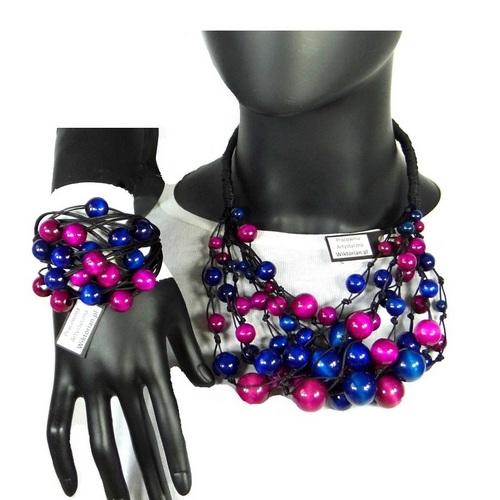 0638fd2bc38c54 Kolejna, wspaniała nowość stworzona ręcznie w naszej Pracowni Artystycznej  www.wiktorian.pl – amarantowo granatowy komplet biżuterii.